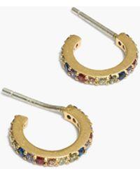 Madewell - Rainbow Sparkle Pavé Hoop Earrings - Lyst