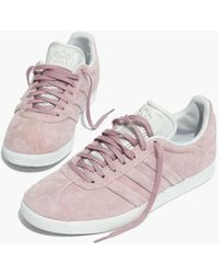 Madewell - Adidas Gazelle Lace-up Trainers In Suede - Lyst