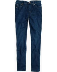 "Madewell - 9"" High-rise Skinny Jeans In Larkspur Wash: ® Edition - Lyst"