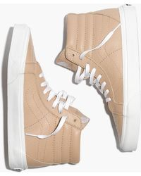 Madewell - Vans Unisex Sk8-hi Reissue High-top Trainers In Sesame Leather - Lyst