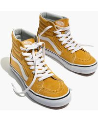 e6e43bfc6a7 Madewell - Vans Unisex Sk8-hi High-top Sneakers In Ochre Suede - Lyst