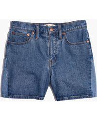 Madewell - High-rise Denim Shorts: Pieced Edition - Lyst