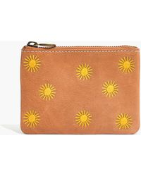 Madewell - The Leather Pouch Wallet: Sun Embroidered Edition - Lyst