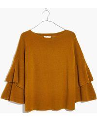 Madewell - Tier-sleeve Pullover Jumper - Lyst