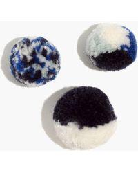 Madewell - Plush Pom-pom Pin Set - Lyst