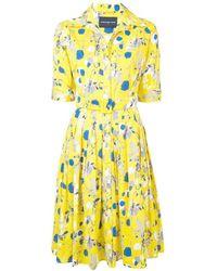 e79a06e914 Dolce   Gabbana Lemon Sicilianprint Fullskirt Dress in Yellow - Lyst