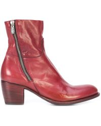 Rocco P - Tripon Mid Heel Ankle Boot - Lyst