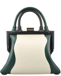 PERRIN Paris - Bone/black/pine Leather L'attelage Bag - Lyst