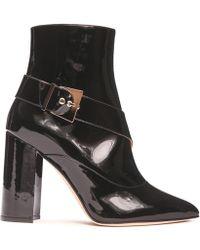 Chloe Gosselin - Waris Patent Leather Ankle Boots - Lyst