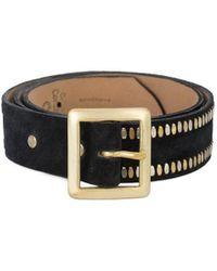"Calleen Cordero - Black Leather Mala 1.5"" Belt - Lyst"