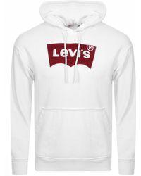 Levi's - Oversized Logo Hoodie White - Lyst