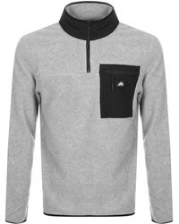 Penfield - Yuma Half Zip Fleece Sweatshirt Grey - Lyst