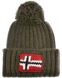 Napapijri - Semiury Bobble Hat Green - Lyst