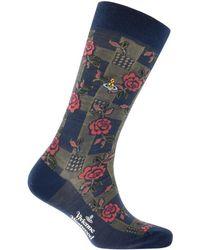 Vivienne Westwood - Rose Socks Blue - Lyst