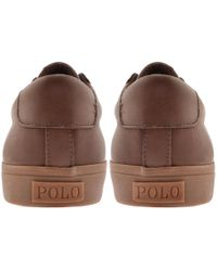 Ralph Lauren - Sayer Leather Trainers Brown - Lyst