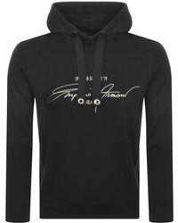 Armani Emporio Pullover Logo Hoodie Black