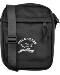 Paul & Shark - Paul And Shark Logo Shoulder Bag Black - Lyst