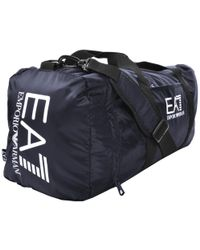 EA7 - Train Prime Gym Bag Blue - Lyst