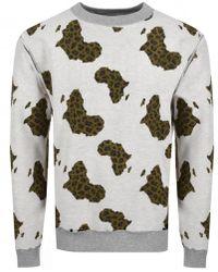 BBCICECREAM - Billionaire Boys Club Reversible Sweatshirt Grey - Lyst