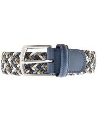 Blue micro-patterned belt Orciani T2GEyWKri3