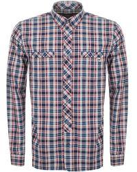 Pretty Green - Langholme Check Shirt Navy - Lyst