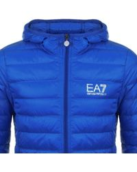 EA7 - Quilted Jacket Blue - Lyst