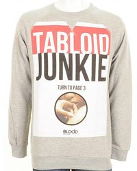 Blood Brother | Tabloid Junkie Sweatshirt Marl | Lyst