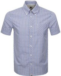 Pretty Green - Short Sleeve Check Shirt Burgundy - Lyst
