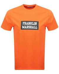 Franklin & Marshall - Logo T Shirt Orange - Lyst