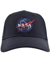 Alpha Industries - Nasa Cap Blue - Lyst