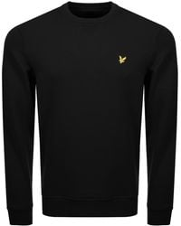 Lyle & Scott - Lyle And Scott Crew Neck Sweatshirt Black - Lyst