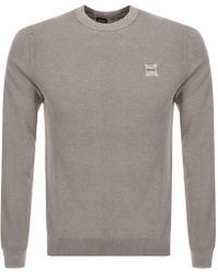 c0260b76d BOSS by Hugo Boss Boss Orange Kwasiros Jumper Grey in Gray for Men - Lyst