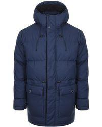 Edwin - Street Parka Jacket Navy - Lyst