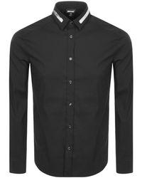 Just Cavalli - Cavalli Class Long Sleeved Shirt Black - Lyst