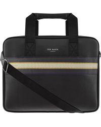 Ted Baker - Sandar Laptop Bag Black - Lyst