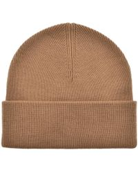 e1c9de3ac19 Lyst - Fred Perry Merino Wool Beanie Hat Grey in Gray for Men - Save ...