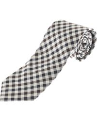 Aquascutum - Club Check Ferdinand Tie Brown - Lyst