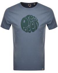 Pretty Green Gillespie Logo T Shirt Blue