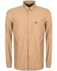 Fred Perry - Classic Oxford Shirt Brown - Lyst