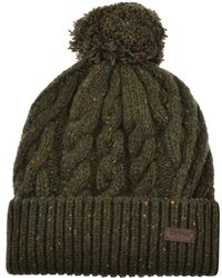 7a3a2c2f482 Barbour Knitted Covesea Beanie Hat in Blue for Men - Lyst
