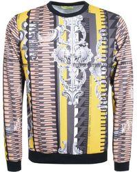 Versace Jeans - Patterned Sweatshirt Grey - Lyst