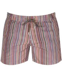 Paul Smith - Ps By Stripe Swim Shorts Green - Lyst