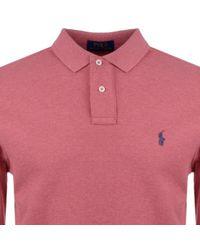 Ralph Lauren - Custom Slim Fit Polo T Shirt Red - Lyst