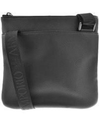 Armani - Emporio Logo Shoulder Bag Black - Lyst