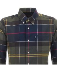 Barbour - John Tartan Shirt Green - Lyst