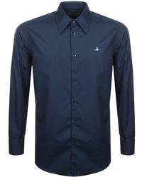 Vivienne Westwood - Poplin Shirt Navy - Lyst