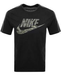 Nike - Camouflage Logo T Shirt Black - Lyst