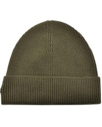 Lyst - Lacoste Ribbed Beanie Marine in Blue for Men e5e77fdad4b4