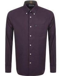 Barbour - Stapleton Twill Shirt Burgundy - Lyst