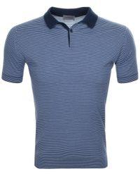 85739fea John Smedley - Etton Knit Polo T Shirt Blue - Lyst